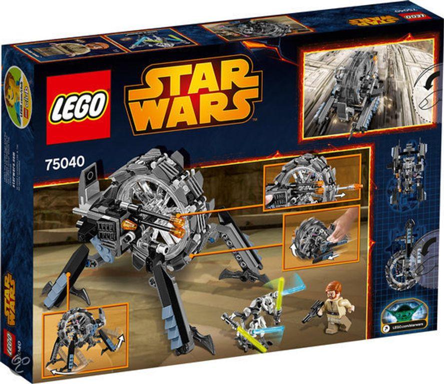 LEGO® Star Wars General Grievous' Wheel Bike back of the box