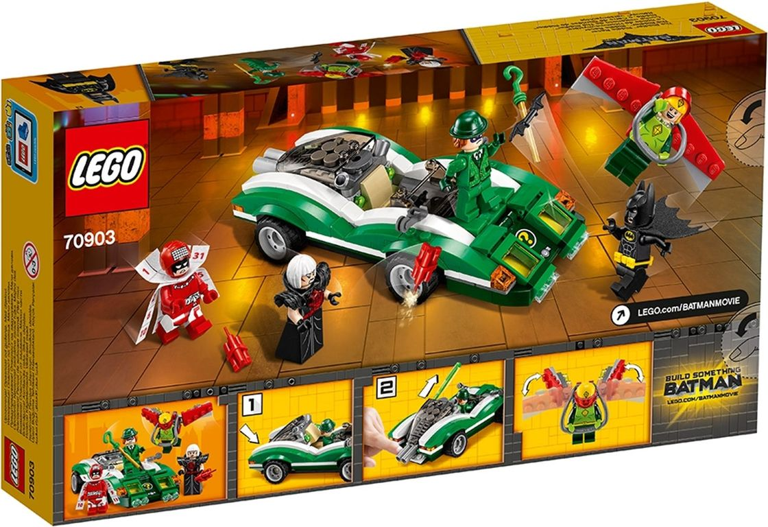 LEGO® Batman Movie The Riddler™ Riddle Racer back of the box