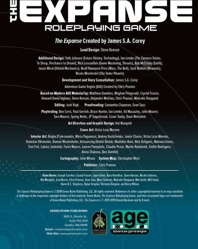 The Expanse Roleplaying Game book