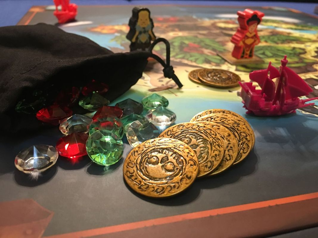 Dead Man's Doubloons components