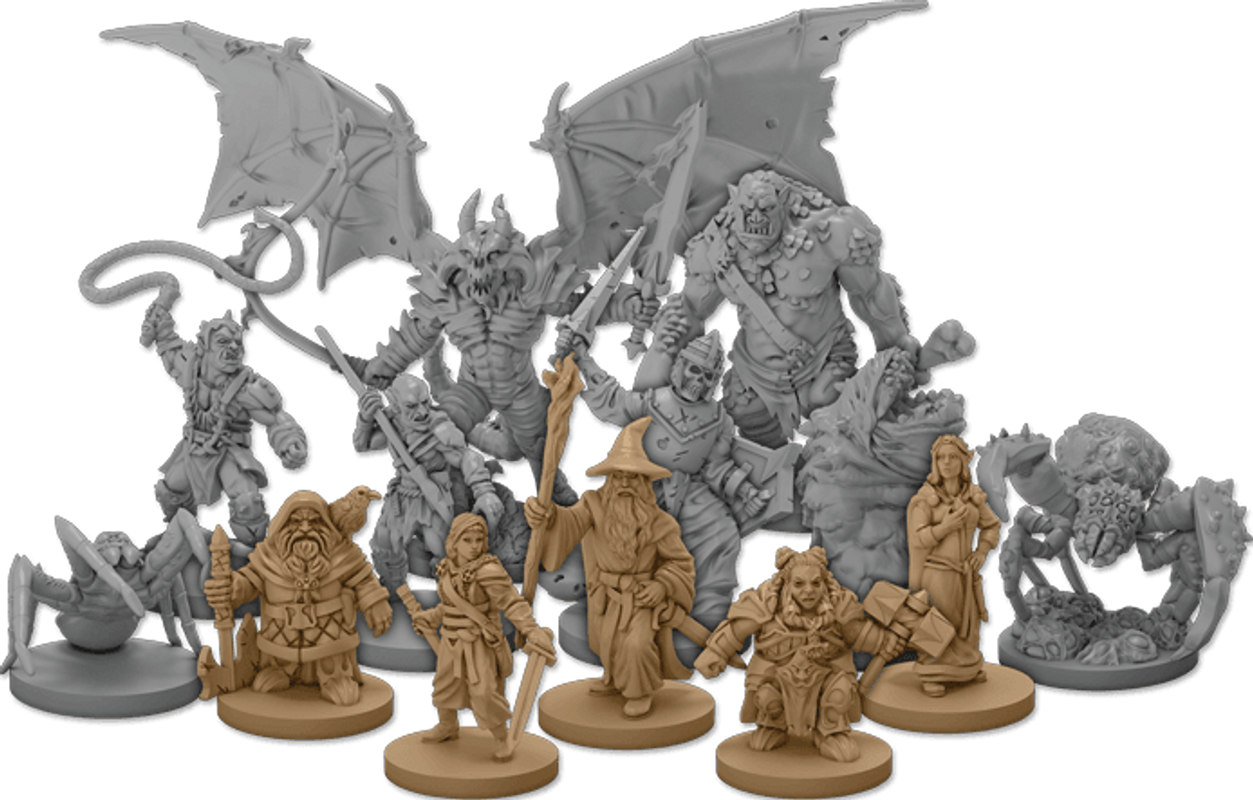 The Lord of the Rings: Journeys in Middle Earth – Shadowed Paths Expansion miniatures