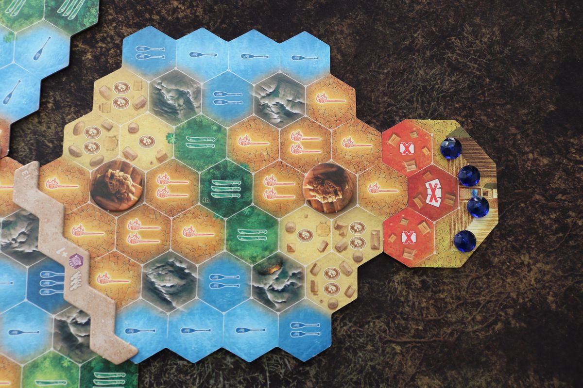 The Quest for El Dorado: The Golden Temples game board