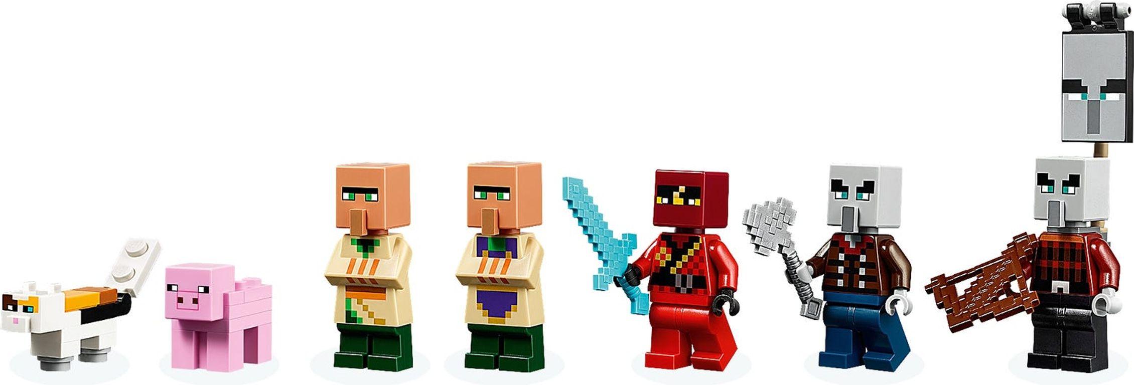 The Illager Raid minifigures