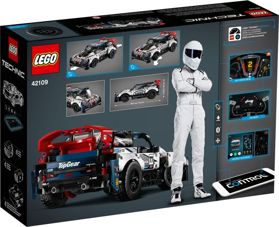 LEGO® Technic App-Controlled Top Gear Rally Car back of the box