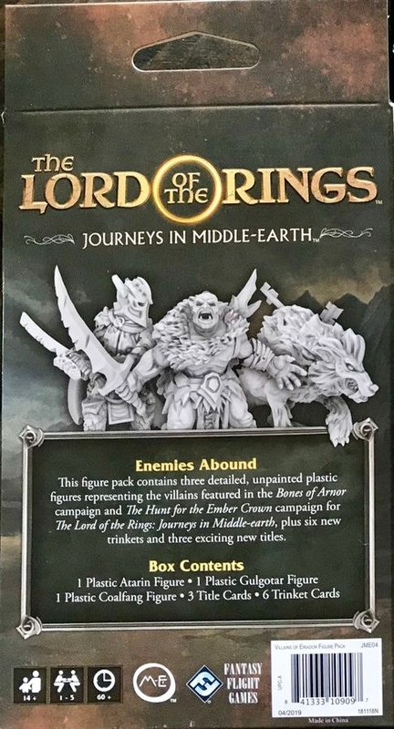 The Lord of the Rings: Journeys in Middle Earth - Villains of Eriador back of the box