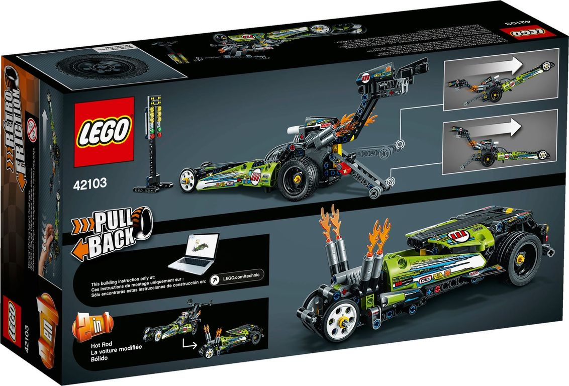 LEGO® Technic Dragster back of the box
