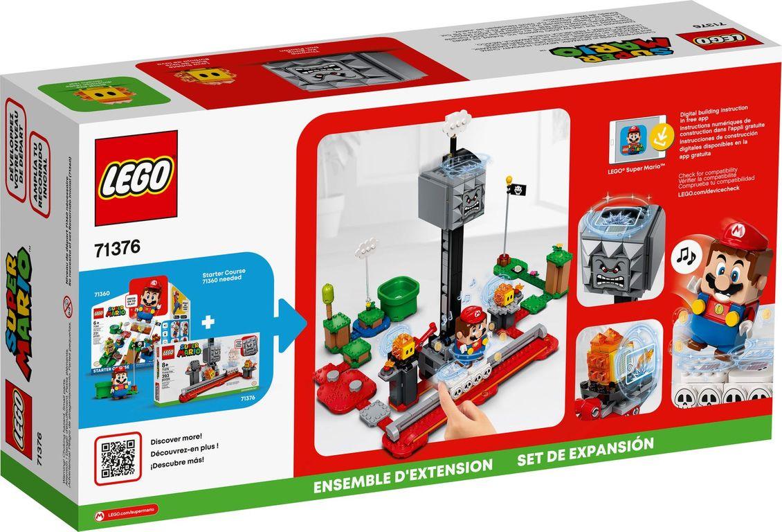 LEGO® Super Mario™ Thwomp Drop Expansion Set back of the box