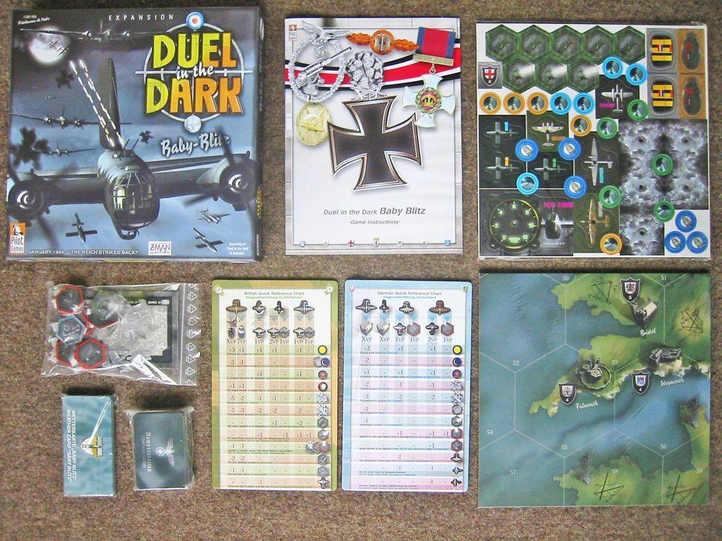Duel in the Dark: Baby Blitz components