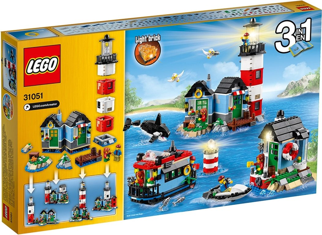LEGO® Creator Lighthouse Point back of the box