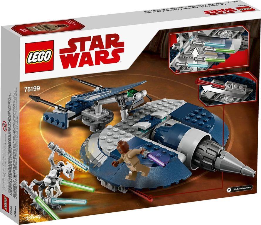 LEGO® Star Wars General Grievous' Combat Speeder back of the box