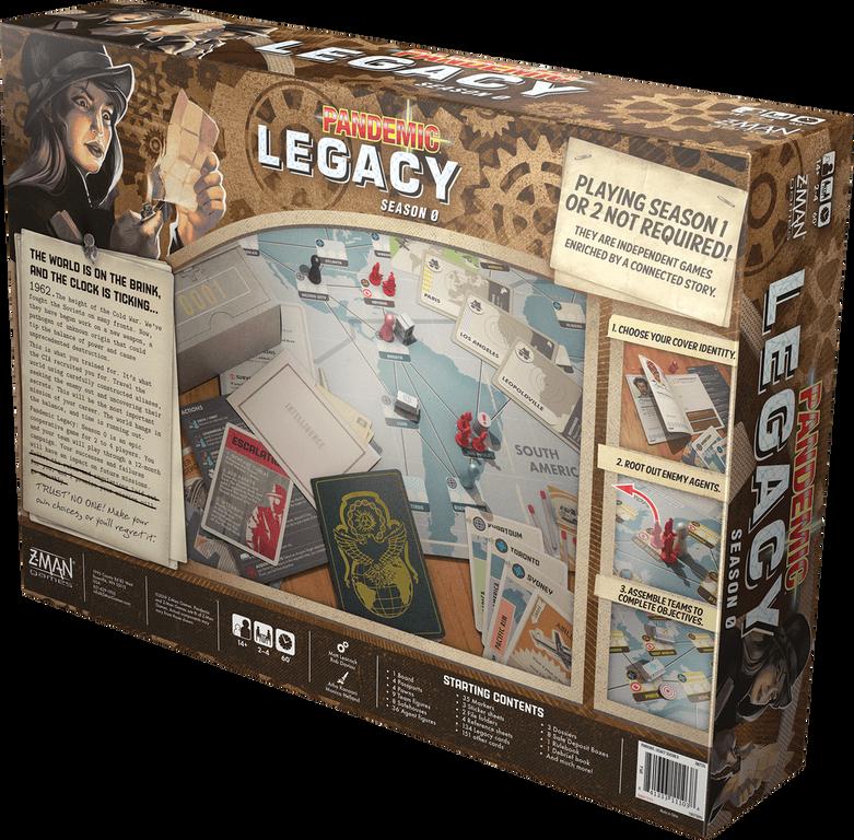 Pandemic Legacy: Season 0 back of the box