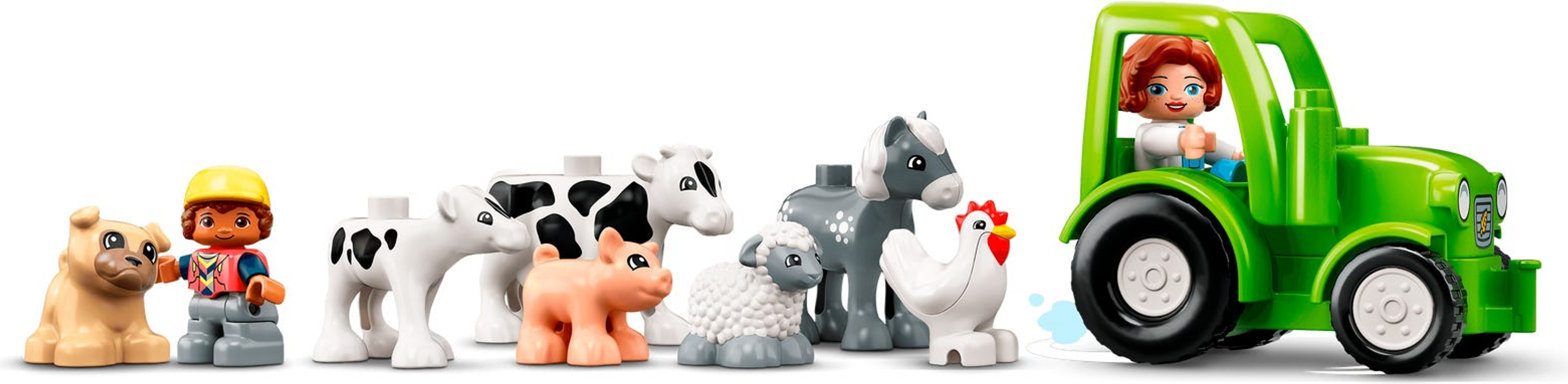 LEGO® DUPLO® Barn, Tractor & Farm Animal Care animals