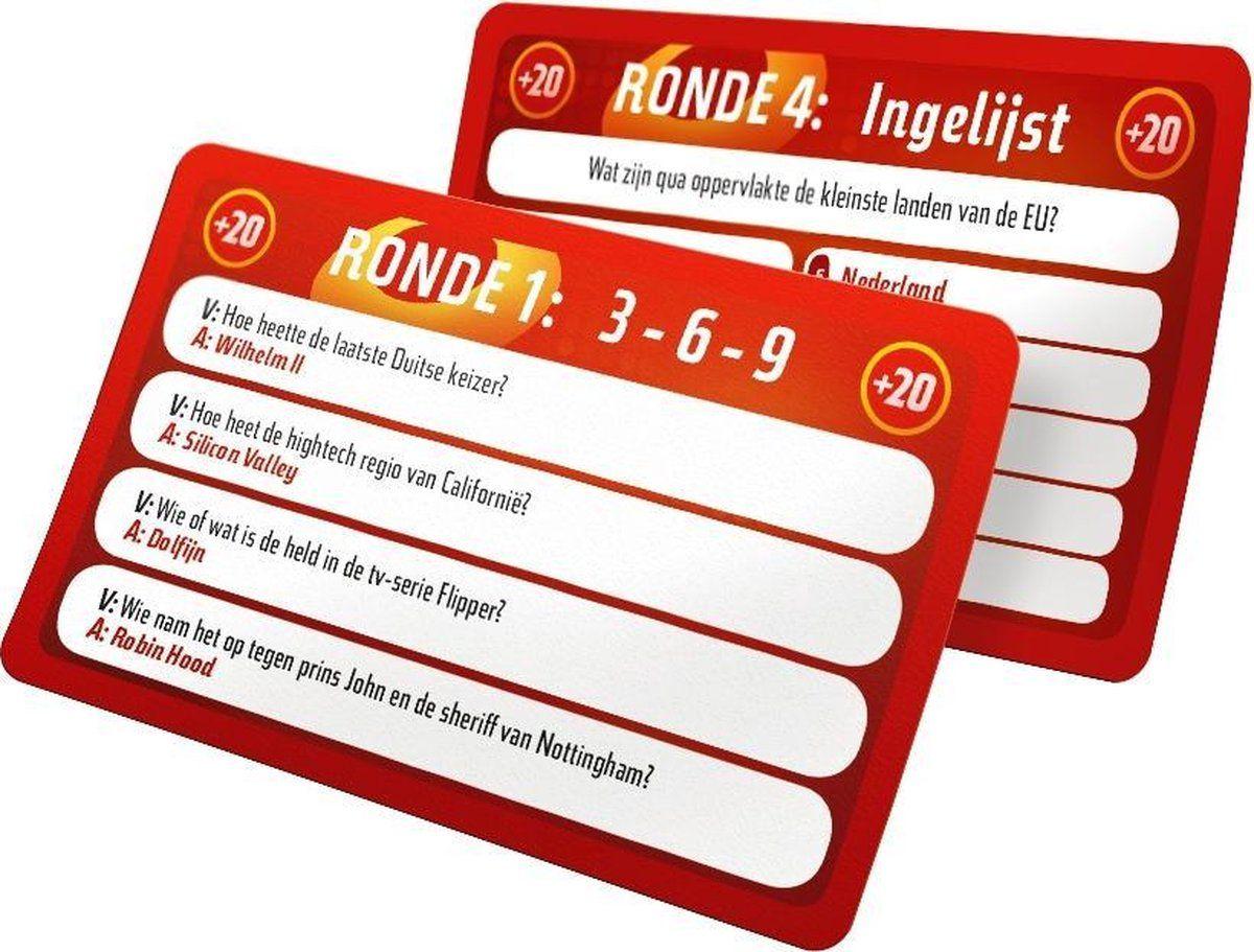 De Slimste Mens ter Wereld: Het Bordspel – Uitbreidingsset cards