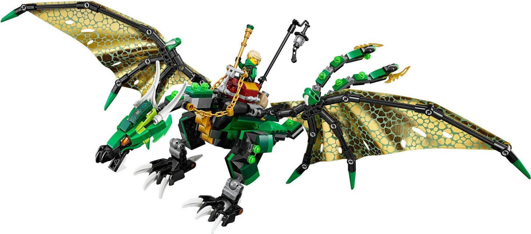 LEGO® Ninjago The Green NRG Dragon components