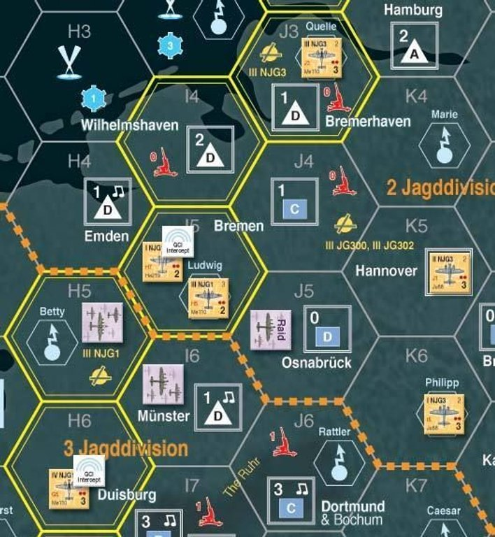Bomber Command game board
