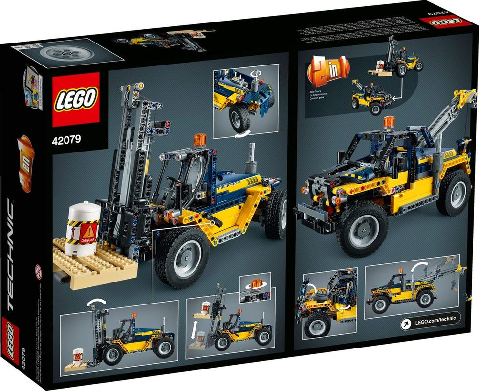 Heavy Duty Forklift back of the box