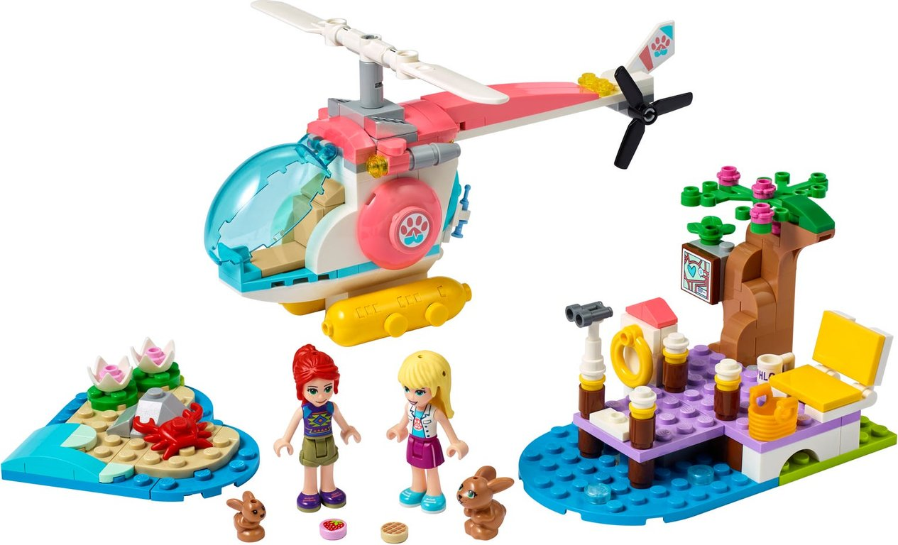 LEGO® Friends Vet Clinic Rescue Helicopter components