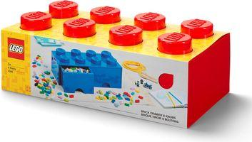 8-stud Bright Red Storage Brick Drawer