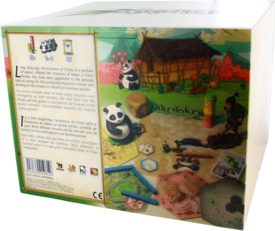 Takenoko Collector's Edition back of the box