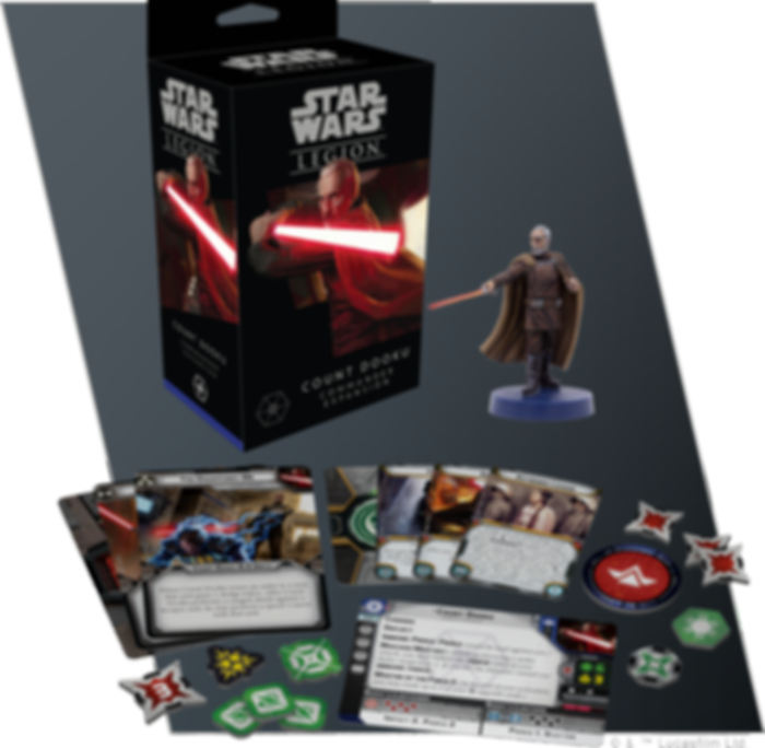 Star Wars: Legion - Count Dooku Commander Expansion components