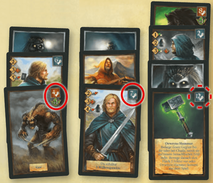 Andor: Chada & Thorn cards