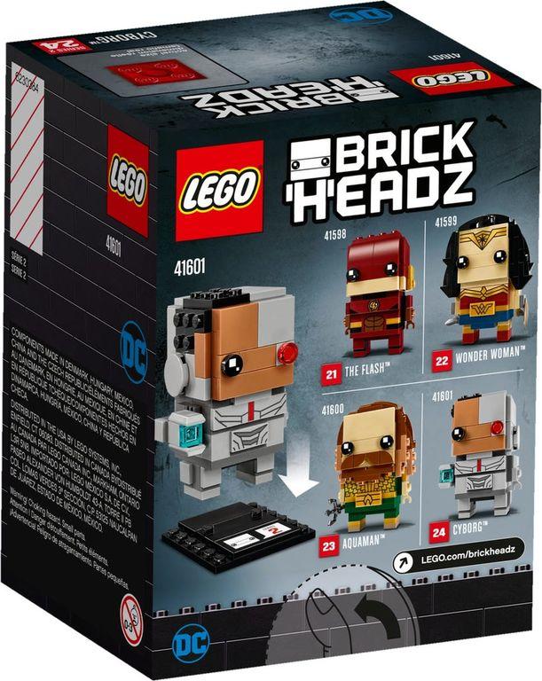 LEGO® BrickHeadz™ Cyborg™ back of the box