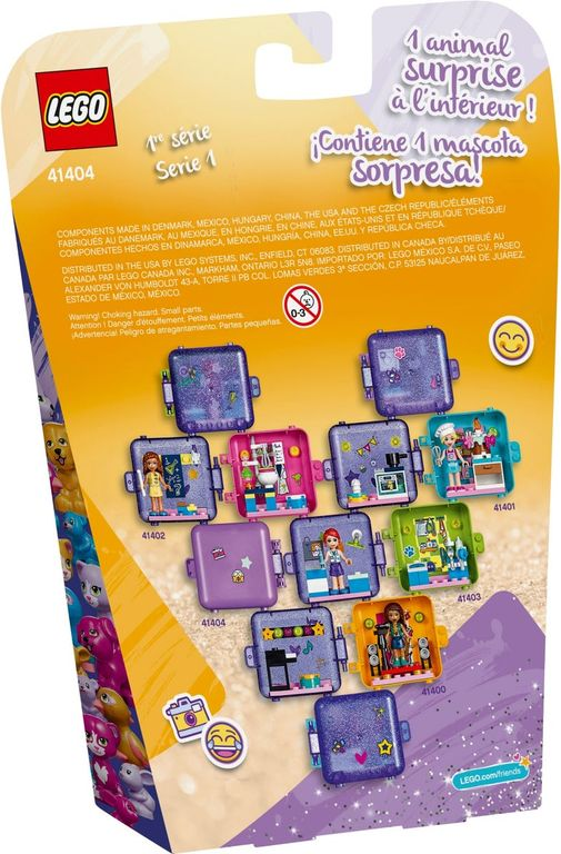 LEGO® Friends Emma's Play Cube back of the box