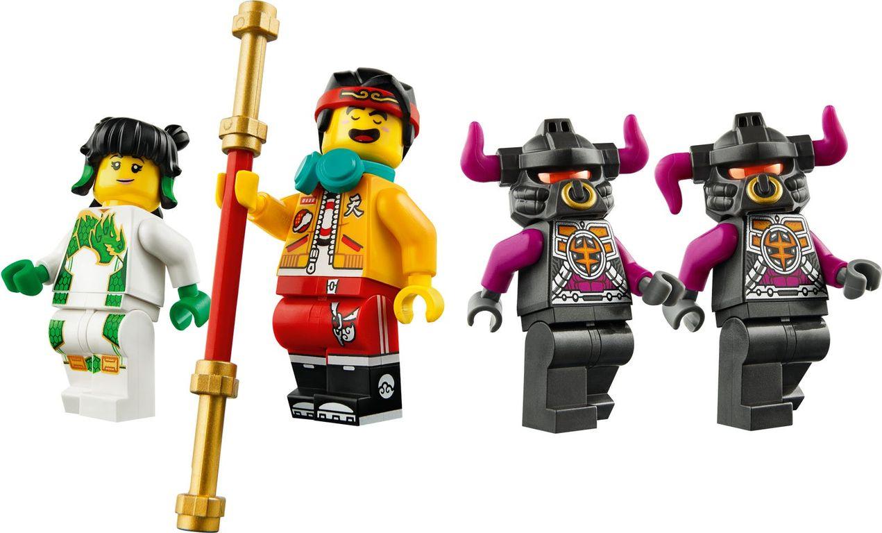 LEGO® Monkie Kid White Dragon Horse Bike minifigures