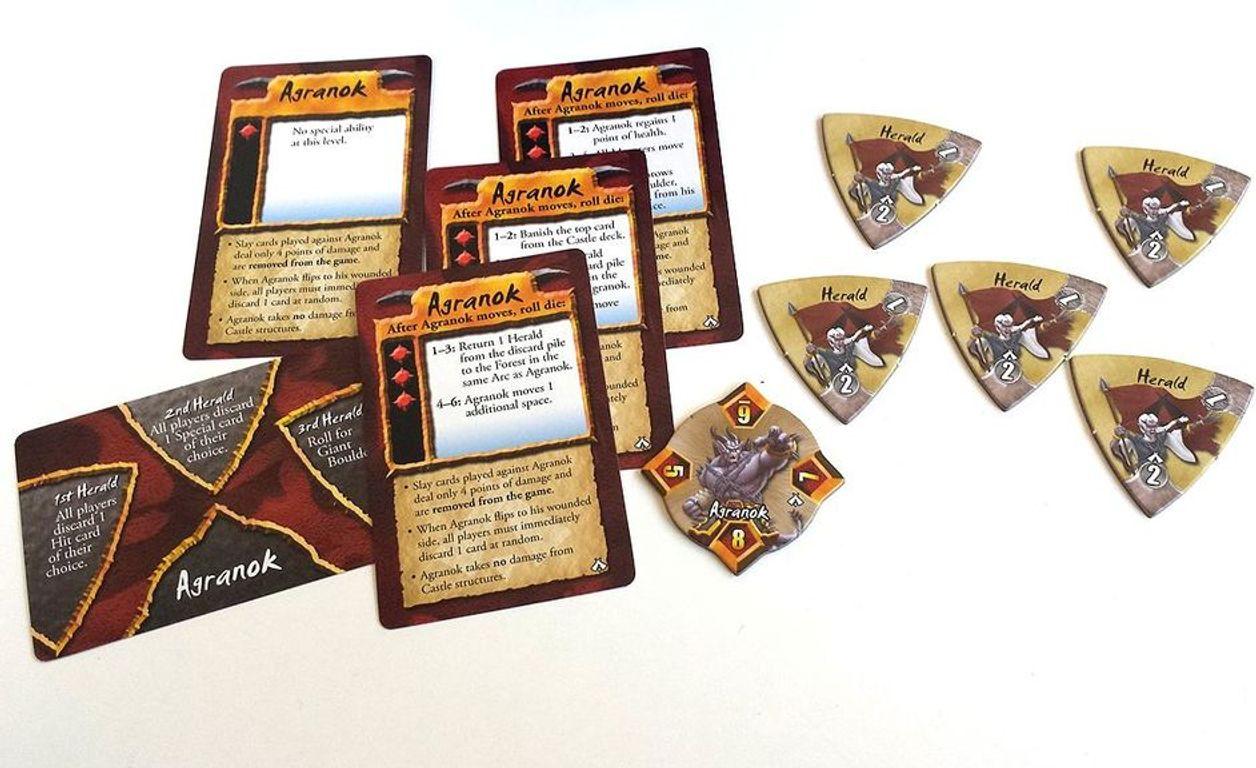 Castle Panic: The Dark Titan components